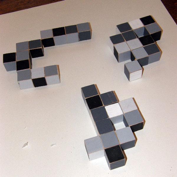 Three-Random-Pixel-Sculptures